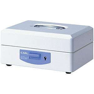 カール事務器 スチール印箱(中)<科目印80個収納>印鑑収納ケース 仕切り自在 SB-7003