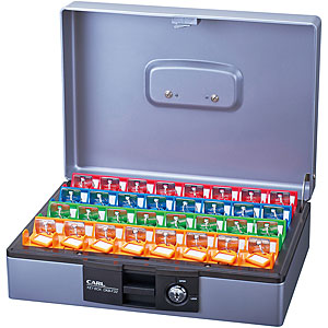 カール事務器 キーボックス(デスクトップタイプ)<32個収納>引出し収納可能 CKB-F32-S