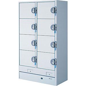 エーコー 冷蔵コールドロッカー(100円リターン式)<2列4段8人用> HPM-8RR9