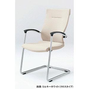 ITOKI スピーナチェア[背・座レザー]キャンティレバー KE-735LE-Z9