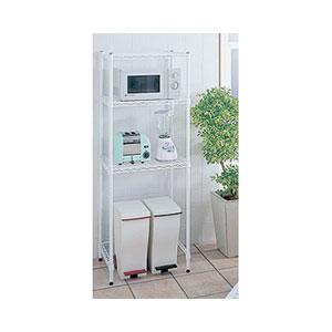 キッチンラック(W600×D450×H1595)ホワイト[1セット] HKR-02