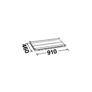 ステンレスエレクターシェルフ(W910×D460) [1枚入] SMS910 - ERECTA SHOP