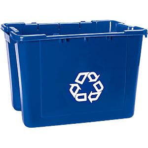 ラバーメイド リサイクルボックス 5714-73 ブルー