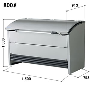 ヨドコウ ゴミ収集庫 ダストピット Rタイプ(DPR型) 間口1,500mm