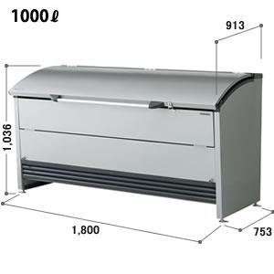 ヨドコウ ゴミ収集庫 ダストピット Rタイプ(DPR型) 間口1,800mm