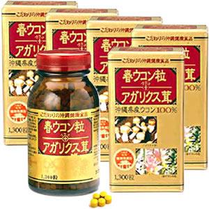 金秀バイオ 春ウコン粒+アガリクス茸 (5個セット)
