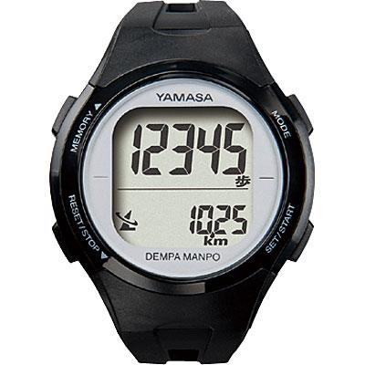山佐時計計器(YAMASA) 電波時計内蔵腕時計型歩数計 ウォッチ万歩計 DEMPA MANPO TM-500