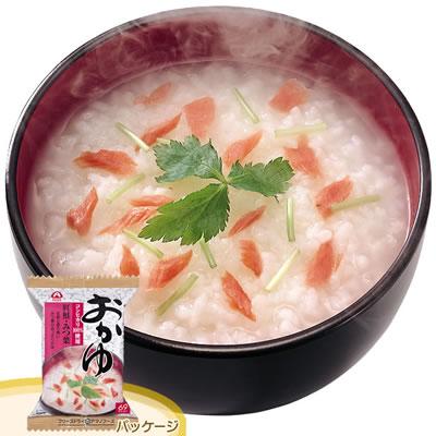 アマノフーズ フリーズドライ おかゆ「紅鮭&みつ葉」(6食入)