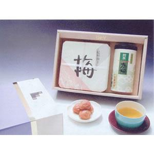 味覚庵 紀州南高梅干・有機栽培宇治茶ギフト UT-50