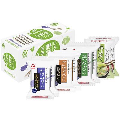 アマノフーズ 【お徳用セット】いろいろ野菜のおみそ汁4種セット(4種類/8食入×6箱セット)