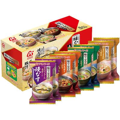 【訳あり】アマノフーズ 味わうおみそ汁4種セット8食(4種類/各2食入)