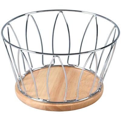[KWS]ワイヤー&木製フルーツバスケット CK6392A 77131