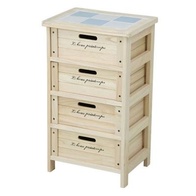 木製4段ボックス HF05-003