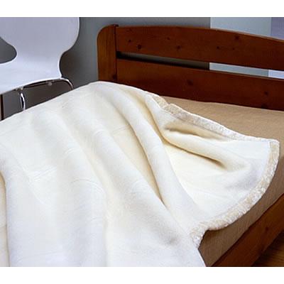 シルク毛布 生成り