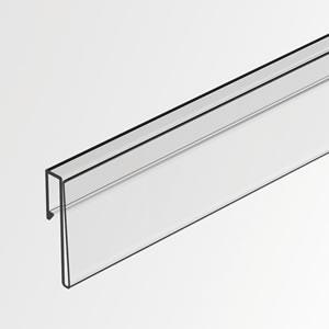[TYPE-O]フラットシェルフ用カードレール(W874用)H20mmカード差込み可 (1本入) MSG002TP82