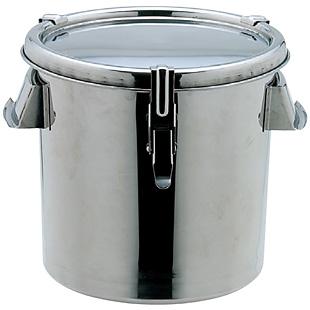 18-8 丸型 テーパー付密閉容器 φ300×H300mm 20リットル