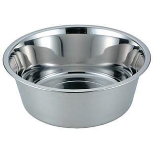 18-8 ステンレス 洗桶 ゴム付 φ360×H140mm