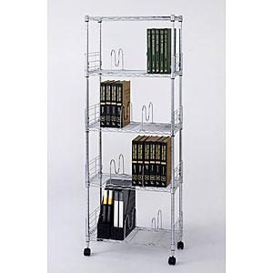 [19]ブックシェルフ5段60W(W595×D295×H1550)<フィールシリーズ> MD6015-5B