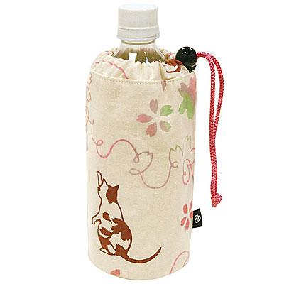 気音間(kenema)<ペットボトル入れ> さくら猫 【さくら柄】 宮本 41215
