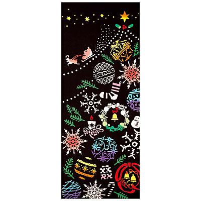 【NUNOいろは】気音間(kenema)<手ぬぐい>Ornament Tree(オーナメントツリー)【イベント・クリスマス柄】 宮本 53362
