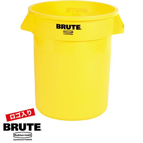 【BRUTEクリアランス】ラバーメイド BRUTE ブルート 丸型コンテナ 75.7L イエロー RFG262000YEL