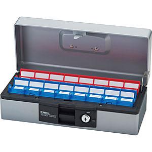 カール事務器 キーボックス(デスクトップタイプ)<16個収納>引出し収納可能 CKB-F16-S