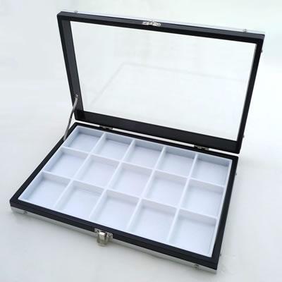 ガラスアルミケースM 50mm角ルースケース用 <黒:白> No.9819