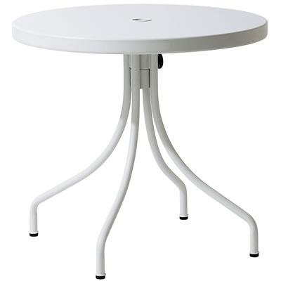 カフェテラス用シンプルテーブル <ホワイト>