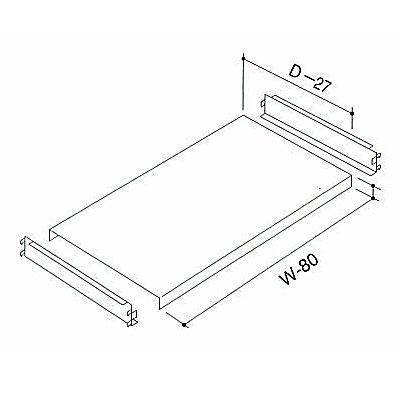 中軽量ラック棚セット NAMLO-64 W1800×D450