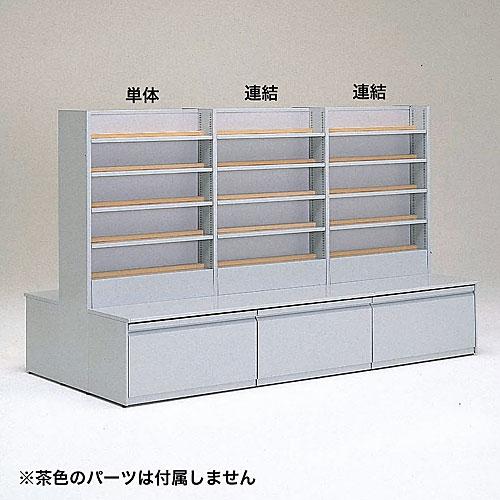 文庫(1)中央両面平台型 ストッカー無し 単体 W825×D1300×H1500 NBKA-BCR302S