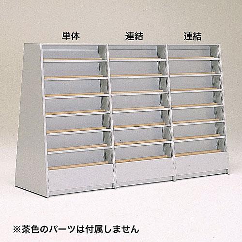 新書・コミック(天板付)中央両面傾斜型(6段)連結 W900×D670×H1500 NBKA-BCY102C