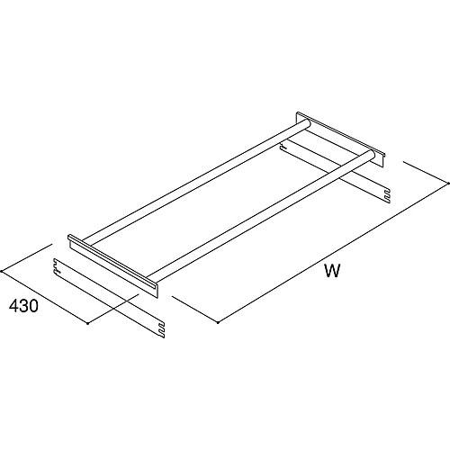 フレームラックセット W1600×D430 NCSO-FR1643