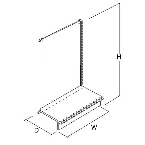 E片面(ボード)連結 W600×D460×H1200 NEB-K112JC