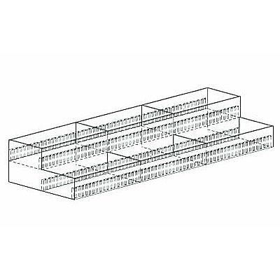 【SHOP Navi店舗什器館】文具2段ケース W900×D300×H50/100 NEO-FBB23