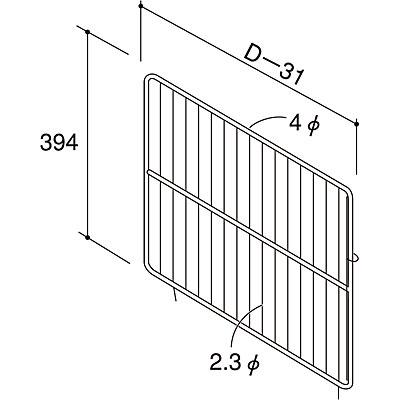 ネットガード用セパレーター(深型) D600×H394 NEO-SGHS60