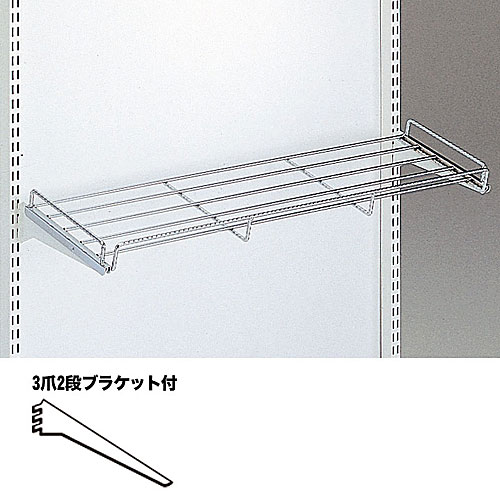 【SHOP Navi店舗什器館】ワイン棚セット(3爪2段ブラケット) W900×D220 NEO-WRN3