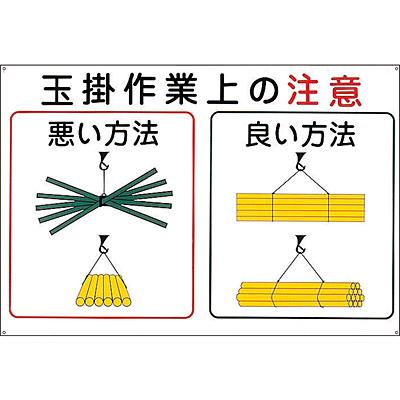 玉掛ワイヤーロープ標識 [玉掛作業上の注意]