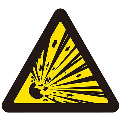 PL警告表示ラベル(簡易) [爆発物](破裂・大) 10枚1セット