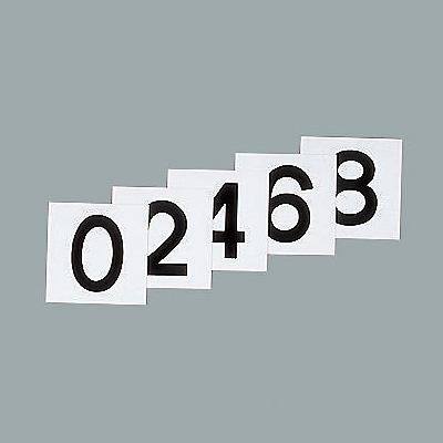 スチールケース 数字札(黒) 100mm角 5枚1セット(0〜9)