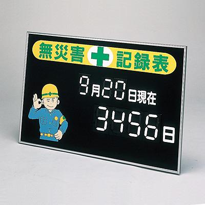 マグネット式数字表示記録板 無災害記録表