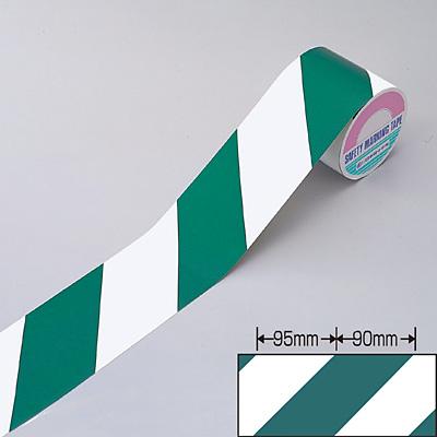 トラテープ(反射) 白・緑 幅90mm×10m