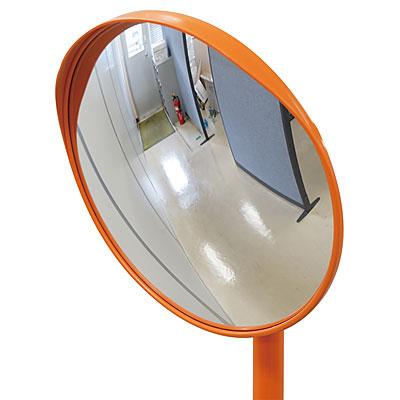 小型カーブミラー(アクリル製) 1面鏡(ポール)