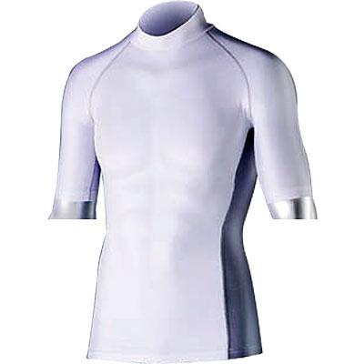 BODY TOUGHNESS 冷感 消臭半袖ハイネックシャツ L ホワイト