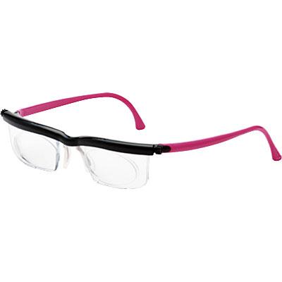 度数調節メガネ(近視・老眼・遠視対応) ソフトケースタイプ(ピンク)