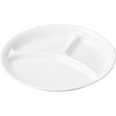 おぎそ(OGISO) 仕切皿シリーズ[8] お誕生日会用に大活躍な仕切皿 白無地 220SD