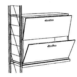 ETAGAIR 木製キャビネット (W758×D381×H725) 2ボックス WAC75
