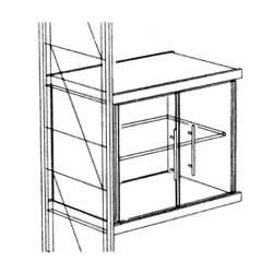 ETAGAIR 木製キャビネット<グラスドア> (W910×D381×H760) S13033