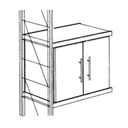 ETAGAIR 木製キャビネット<木製ドア> (W758×D381×H380) S11050