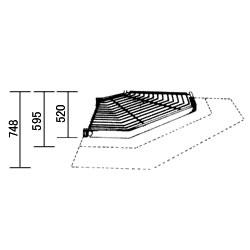 ETAGAIR コーナーシェルフ (D748×D610) B475E