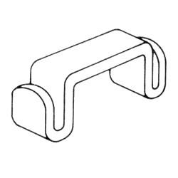 Bruynzeel monta ダブルブラケット4p <クローム> BRD-CR